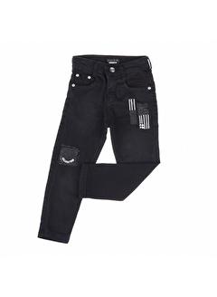 Özaytaçlar Bicirik Mini Yumi Erkek Likra Kot Pantolon-Siyah Bicirik Mini Yumi Erkek Likra Kot Pantolon-Siyah